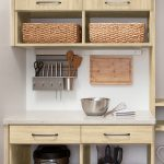 Easy access work station for a custom pantry