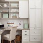 White custom built home office with hutch from Inspired Closets