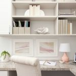 White custom built home office with shelving from Inspired Closets