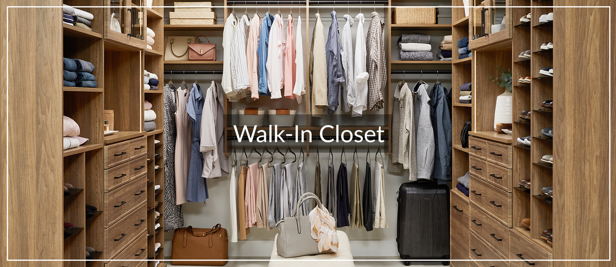 His and Hers natural Walk-In Closet with lighting for January Learning Center Article