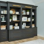 Custom wall hung storage for home office