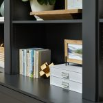 Home office helving for custom space from Inspired Closets