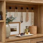 Wall hung necklace hook board for walk-in closet from Inspired Closets