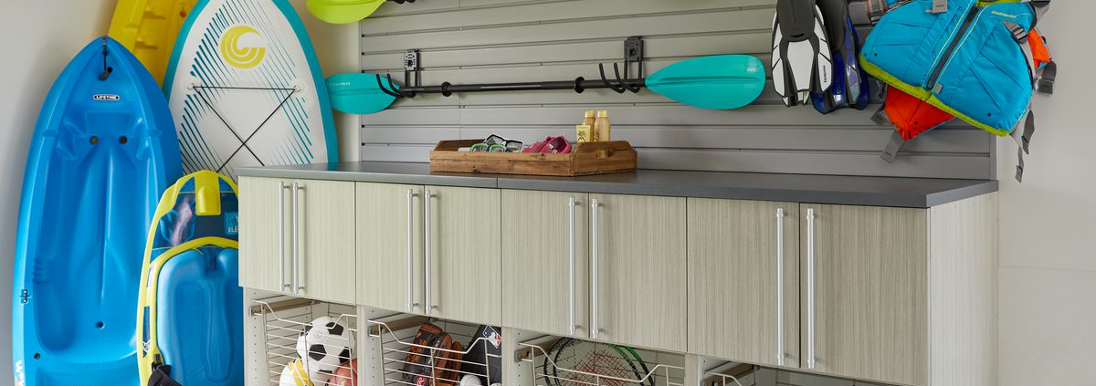 Water toy custom garage storage from Inspired Closets