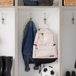 Custom locker storage with hanging hook solutions