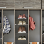 Custom shoe storage for children's shoes entryway garage system from Inspired Closets