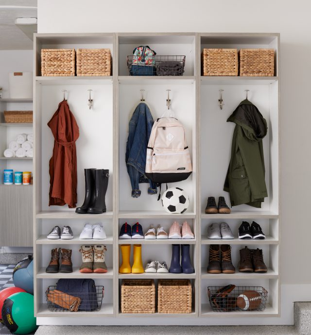 Custom locker storage in your garage from Inspired Closets