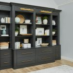 Charcoal home off with brass accents from Inspired Closets