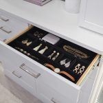 Hide away jewelry tray to keep small items organized