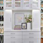 Custom lite hutch in a boutique closet