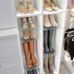 Beautiful glass Shoe Shrine® from Inspired Closets