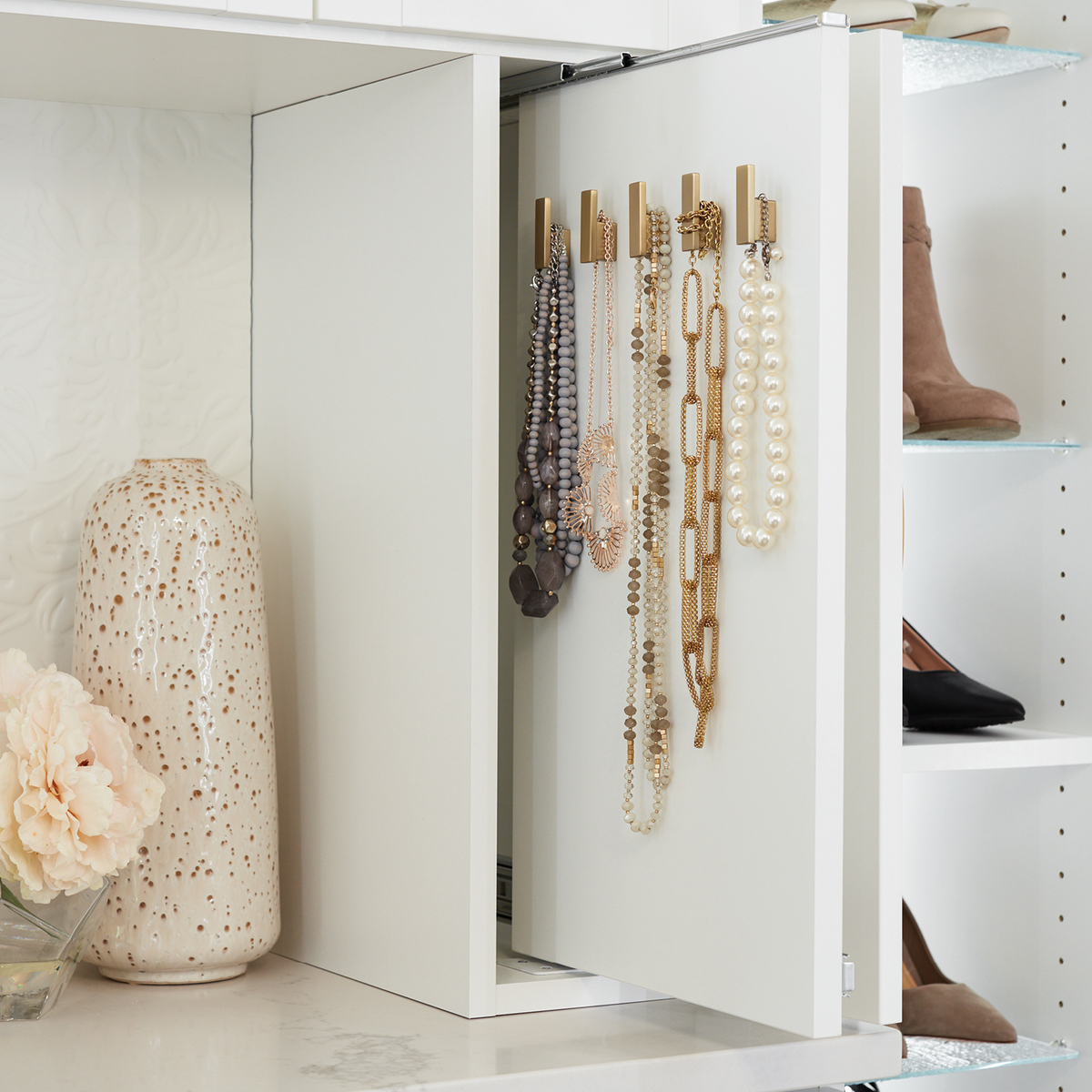 Hideaway jewelry solutions from Inspired Closets