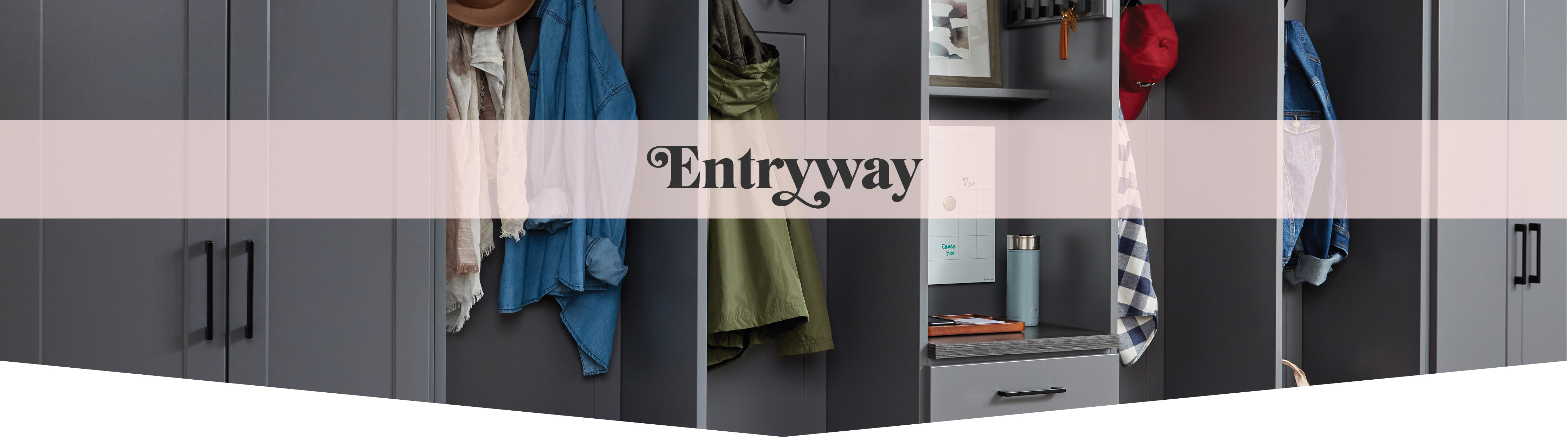 Customer entryways solutions created by Inspired Closets