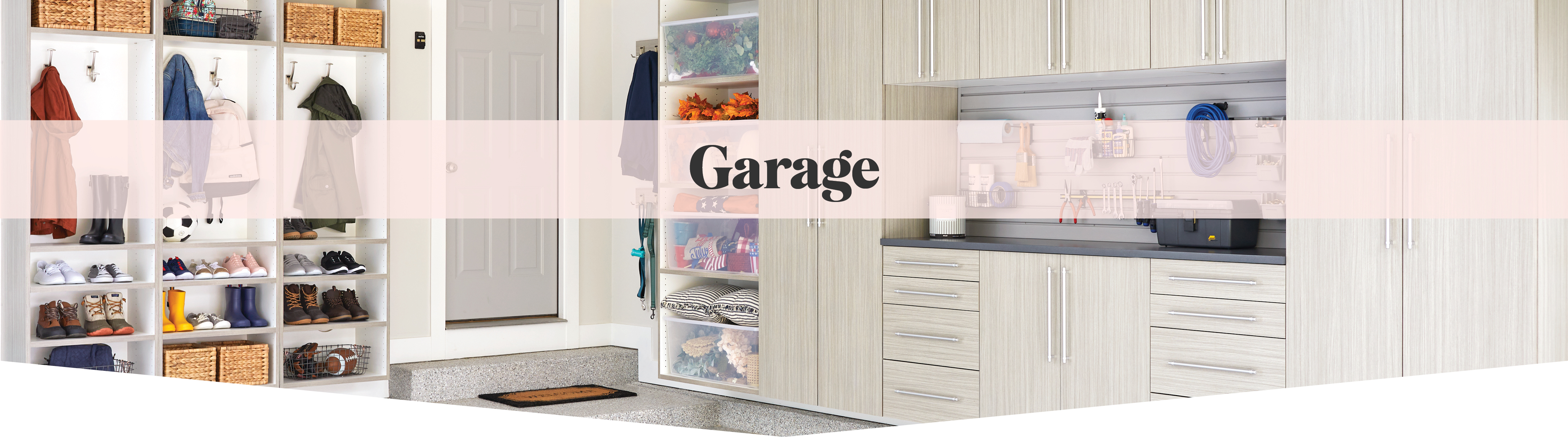 Custom garage solutions for entryways from Inspired Closets