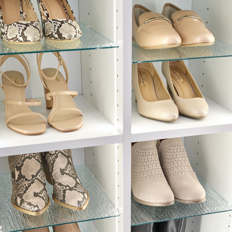 Shoe Shrine® adjustable shelves for women's shoes