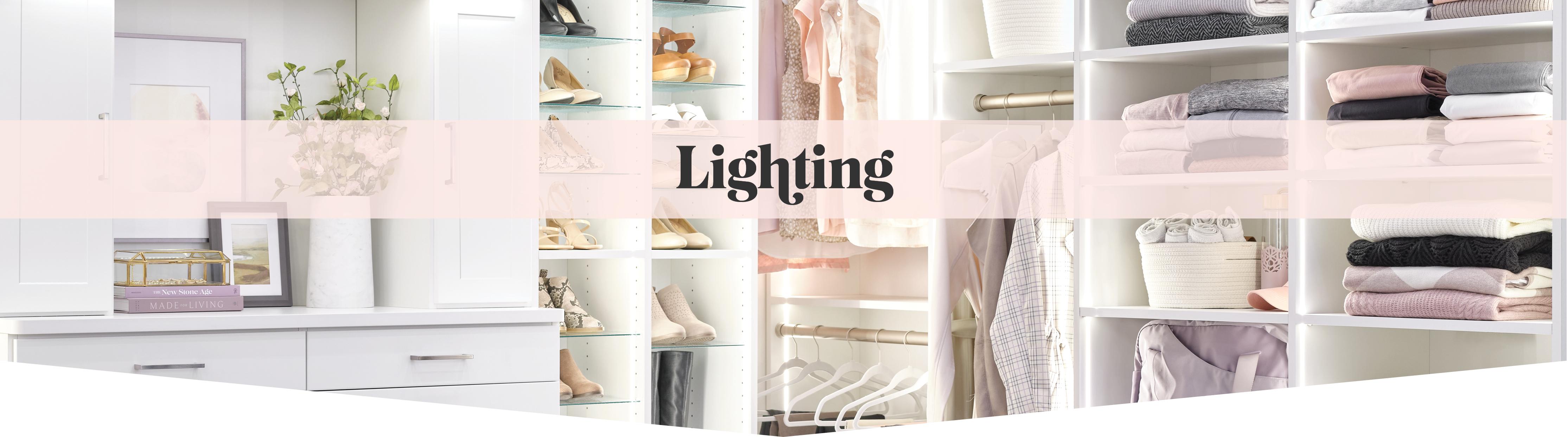 Custom lighting for your custom organization from Inspired Closets