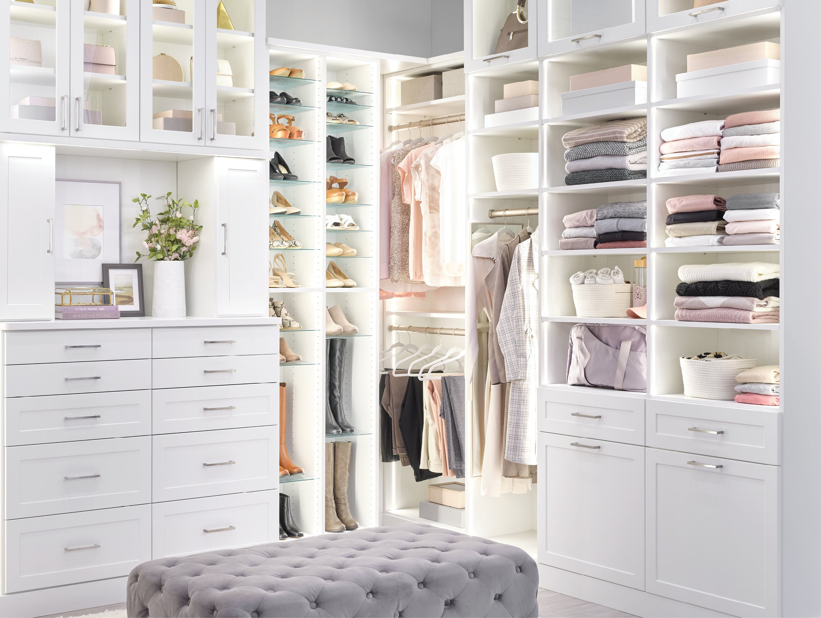 Custom lighting for places like your custom walk-in closet from Inspired Closets