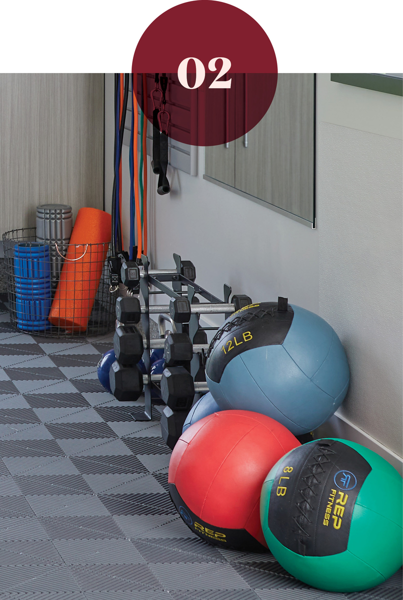 How to store weights in a home gym