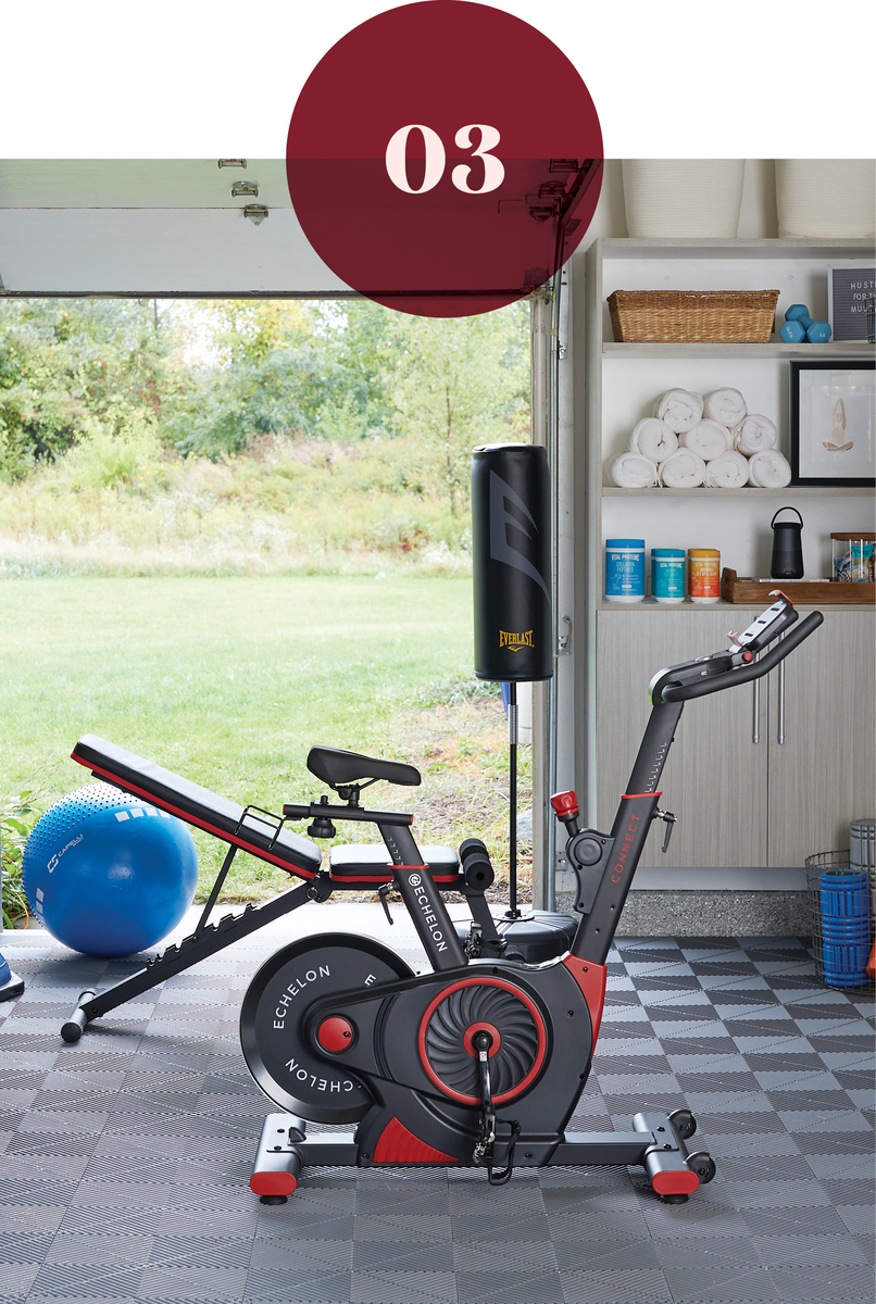 Creating a home gym in your garage from Inspired Closets