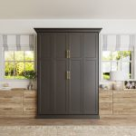 Charcoal Murphy Bed solutions with and built-in drawers from Inspired Closets