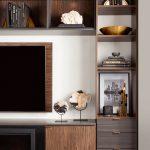 Custom vertical shelving for entertainment center