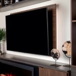Built-in floating shelves for entertainment center from Inspired Closets