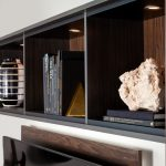 Floating shelves for built in lighting from Inspired Closets