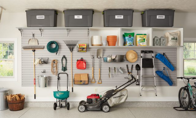Overhead storage for seasonal items