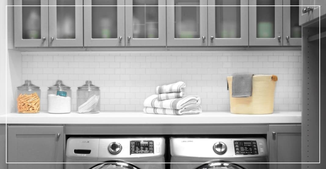 Contrasting Grout for laundry room design trends