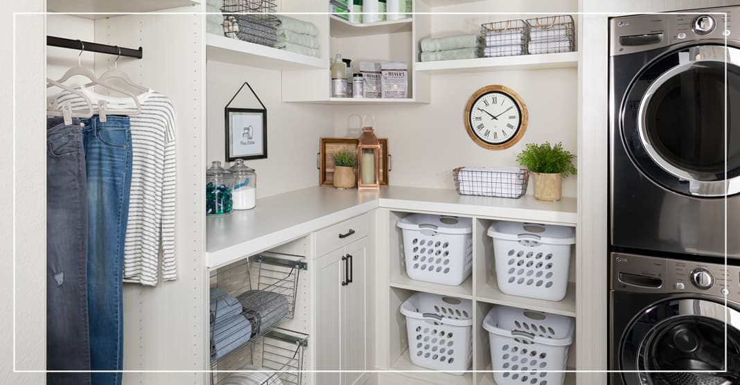 Open storage for top laundry room design trends