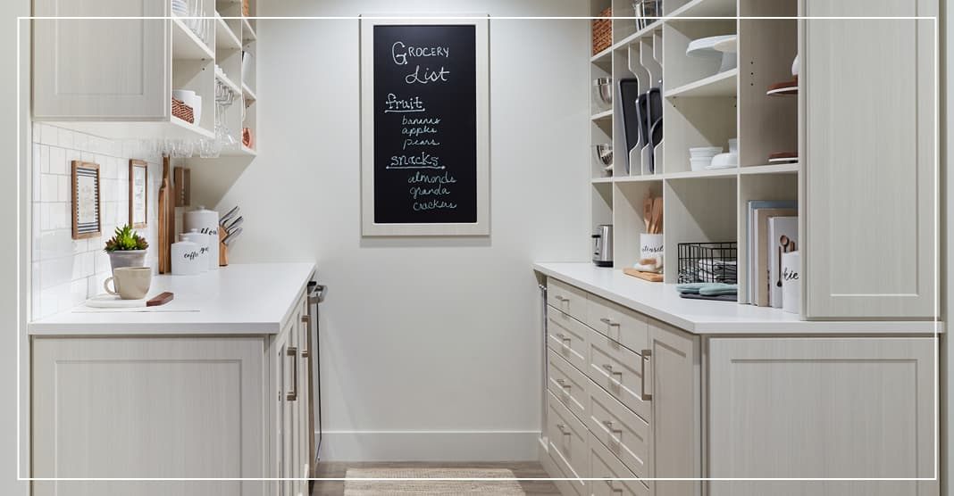 Gold hardware for pantry design trends