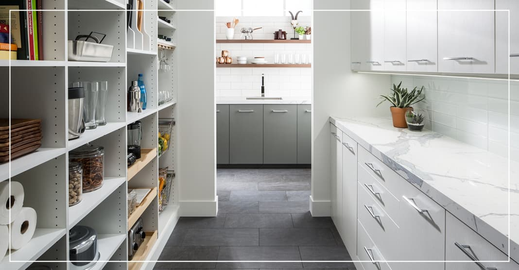 Marble counter tops for pantry design trends