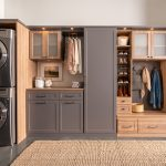 Laundry room and mudroom shared space with shoe storage from Inspired Closets