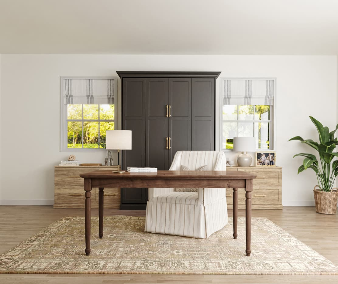 Create a separate work area from Inspired Closets